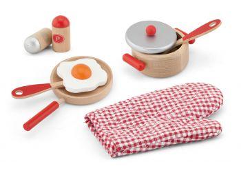 Set accesorii pentru gatit - rosu, Viga