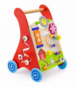 Antemergator rosu cu activitati tip Montessori, Viga