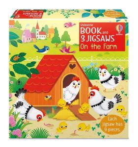 Book and 3 Jigsaws: On the Farm, Usborne