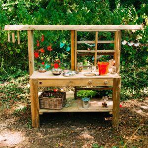 Bucatarie pentru grădină DISCOVERY cu accesorii, Plum