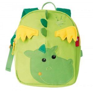 Ghiozdanel, dragon, verde