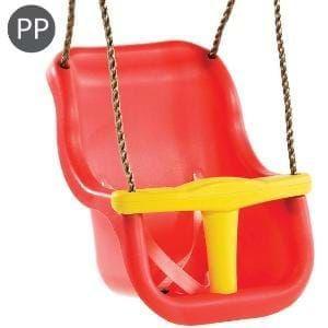 Leagan Baby Seat LUXE Culoare: Rosu/Galben, franghie: PP 10