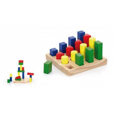 Puzzle sortator 4 forme geometrice, Viga