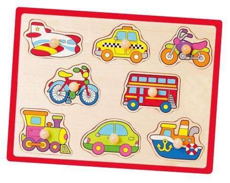 Puzzle cu manere - mijloace de transport, Viga