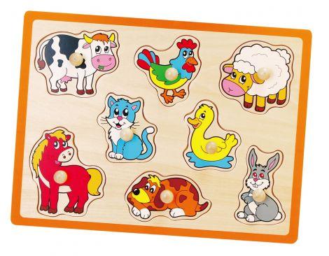 Puzzle cu manere - animale, Viga