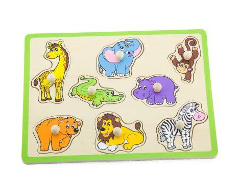 Puzzle cu maner - Animale salbatice, Viga