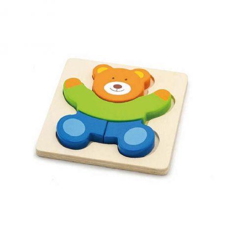 Puzzle din lemn - ursulet, Viga