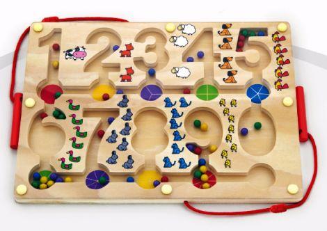 Labirint magnetic cu bile, Viga