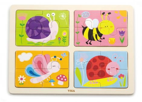 Puzzle 4 in 1 - Insecte, Viga