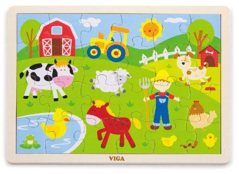 Puzzle animale de la ferma, Viga