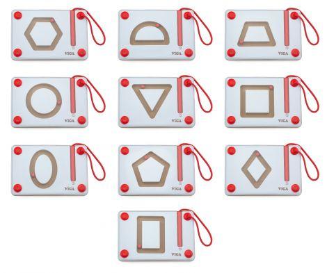Set magnetic de scriere - Forme geometrice, Viga
