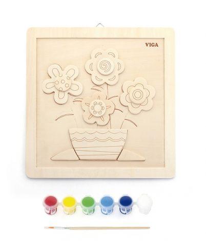 Set de creatie - Asambleaza si picteaza o vaza cu flori!, Viga