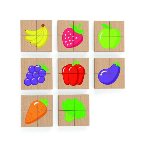 Blocuri magnetice cu imagini fructe, Viga