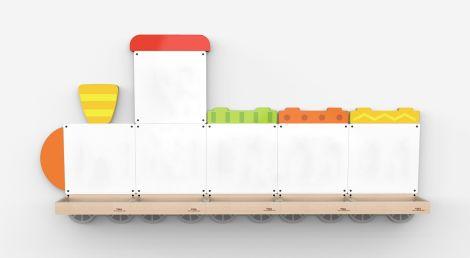 Set table de scris magnetice - Trenulet cu trei vagoane, Viga