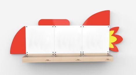 Set table de scris magnetice, Racheta, Viga