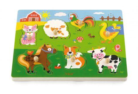 Puzzle cu sunete - animale, Viga