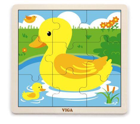 Puzzle din 9 piese mari - ratusca, Viga