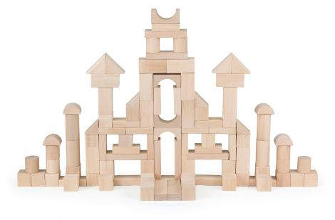Set cuburi de construit 100 buc natur (3cm), Viga