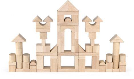 Set cuburi de construit Jumbo, 75 buc natur (3,5 cm), Viga