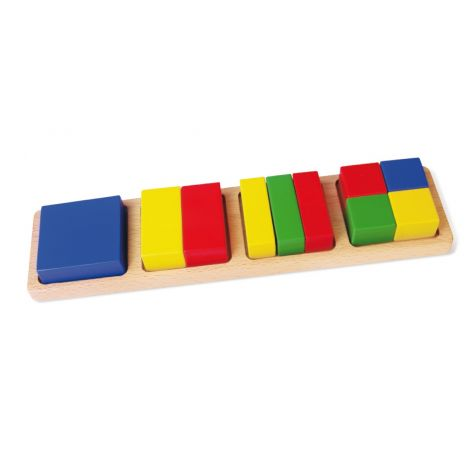 Sortator - blocuri din lemn matematice, Viga