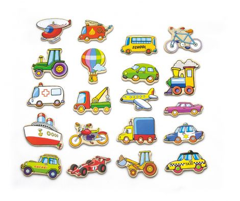 Set vehicule magnetice din lemn, Viga