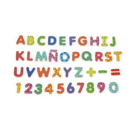 Set de litere si numere magnetice (77 piese), Viga