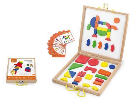 Set magnetic - forme geometrice din lemn cu cutie, Viga