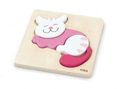Puzzle din lemn - pisica, Viga