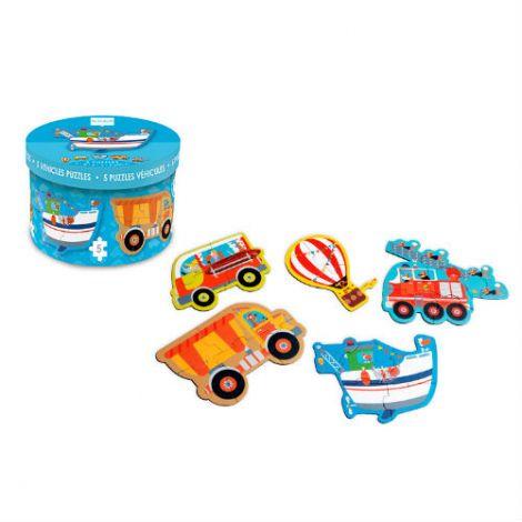 Set 5 puzzle-uri Vehicule