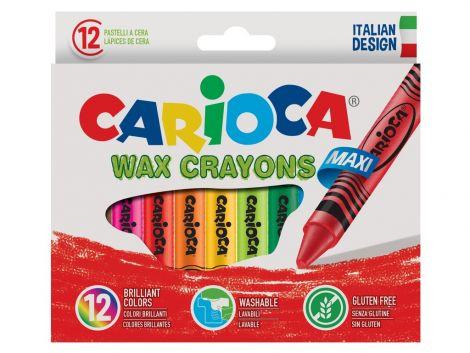 Creioane cerate Maxi Carioca 12/set