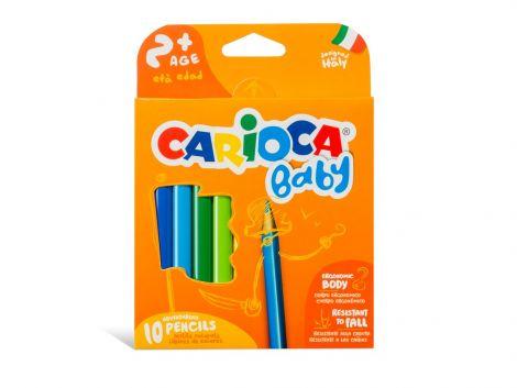 Creioane color Baby, varsta 2+, Carioca, 10/set
