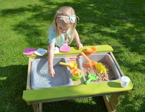 Masa de picnic senzoriala cu loc pentru nisip si apa (T1), Wendi Toys