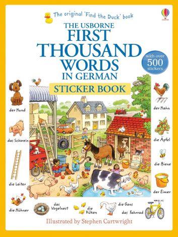 First Thousand Words in German Sticker Book, Usborne