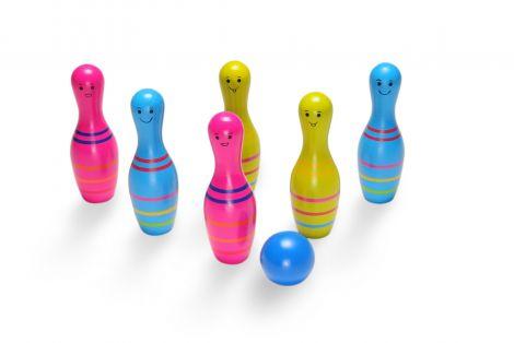 Set de bowling din lemn Skittles Jr., BS Toys