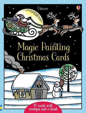 Magic painting Christmas cards, Usborne