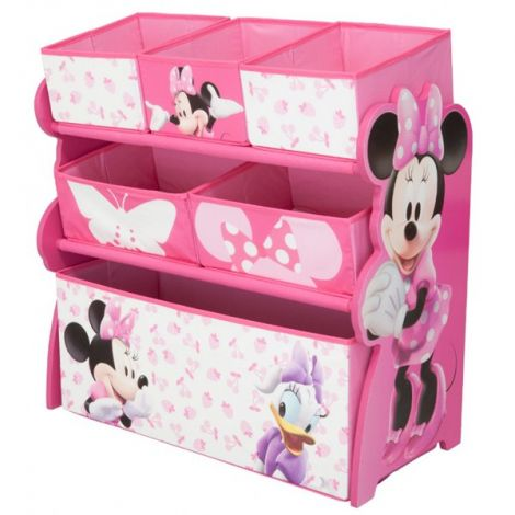 Organizator jucarii cu cadru din lemn Disney Minnie Mouse