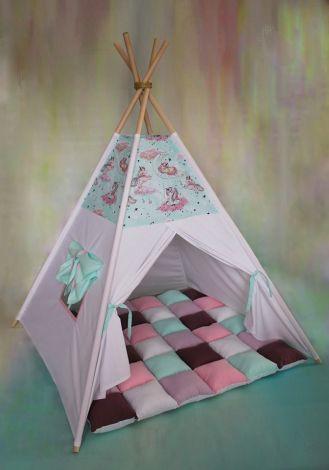 Set cort de joaca Pink Unicorns