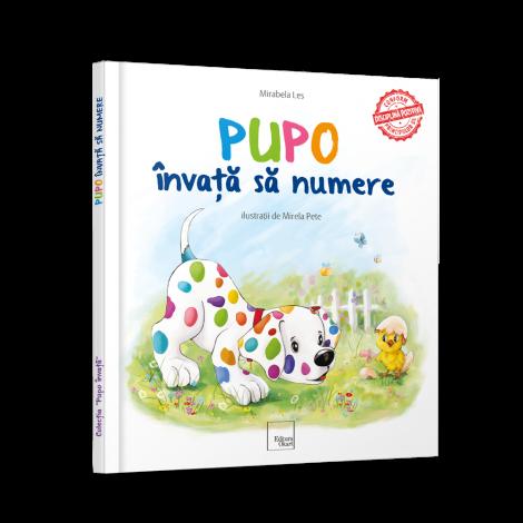 """Carte educativa de povesti """"Pupo invata sa numere"""""""