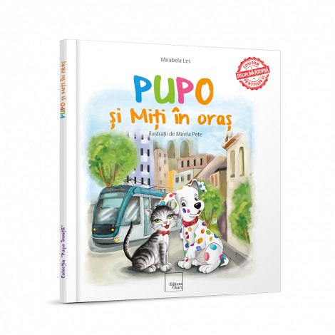 "Carte educativa de povesti ""Pupo si Miti in oras"""