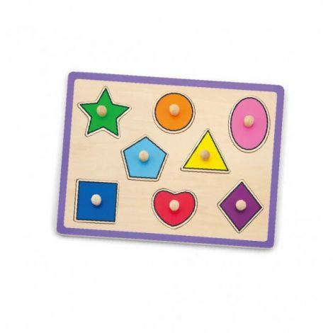 Puzzle cu maner - forme geometrice, Viga