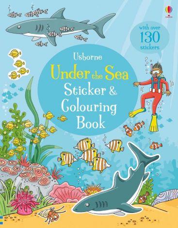 Under the sea sticker and colouring book, Usborne
