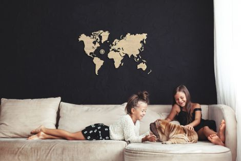 Harta lumii puzzle 3D de perete (M)