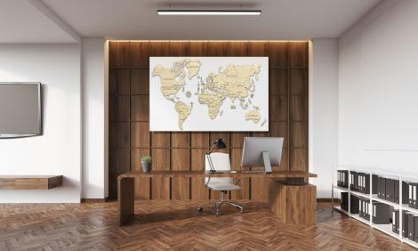 Harta lumii puzzle 3D de perete (XL)