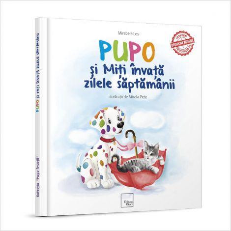 """Carte educativa de poezii """"Pupo si Miti invata zilele saptamanii"""""""